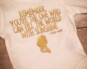 Snow White Fairytale Quote Bodysuit