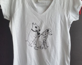 T-shirt women size M-Tattoo Dog