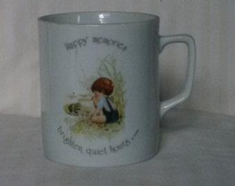 Vintage Holly Hobbie tea cup coffee mug