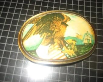 Pacifica 1976 Eagle/Flag/Ship Belt Buckle