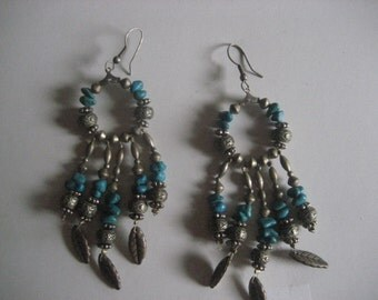 "Turquoise 4"" long Earrings"