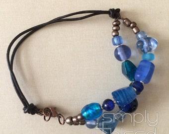 Ocean Blue Double Strand Bracelet