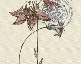 MACHINE EMBROIDERY DESIGN -  Fl 012 _Lily