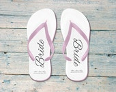 Bride Flip flops, personalised wedding flip flops, bridesmaid flip flops, flip flops for wedding, flip flops for brides, wedding flip flop