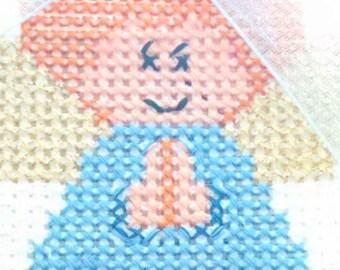 Angel in cross stitch
