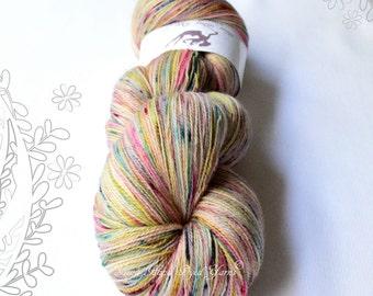 MYTH - Joyful OOAK - hand dyed yarn, 100% superwash extra fine merino, lace weight