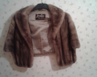 Vintage Mink Cape with Collar from the 50's or 60's