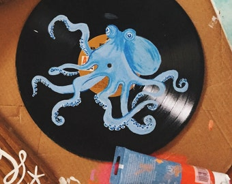 Repurposed Vinyl Octopus