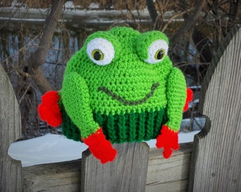 Hoppy Happy Frog Hat Pattern