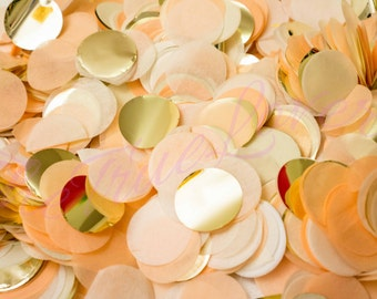 Peach/ Gold/ Champagne/ wedding confetti ,birthday,table confetti, noel, christmas ,confetti toss,ballon confetti, Baby Shower,Weddings