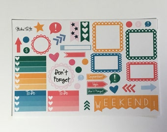 Summer Melon Build Your Own Kit Call Out Functional Erin Condren ECLP Mambi Inkwell Press Filofax Kikki K Happy Life Watermellon Sticke