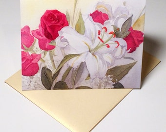 Lily and Rose Note Cards (Set of Five)