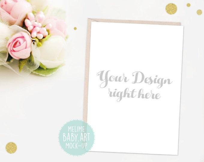 Card Mockup, Wedding Invitation Mockups, 5x7 invite Mockup, Styled Photography Mockup, Card and Envelope, Wedding Mockup (Wedding)