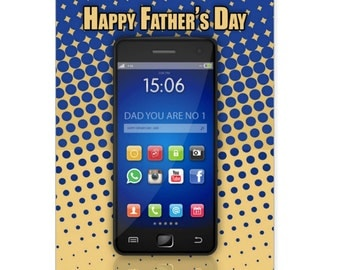 Father's Day Card, Mobile, Cell Phone / Mobile Phone Dad Father's Day Card