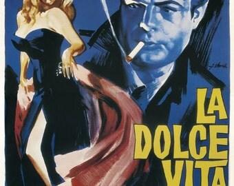 La Dolce Vita Movie Poster - New Print 24x36