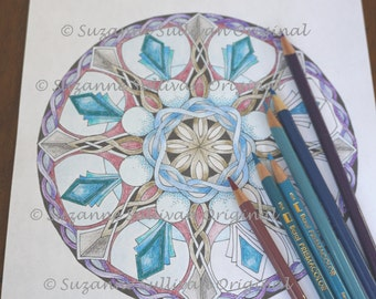 Celtic Mandala Coloring Page, Adult Coloring Page, Printable Coloring Download, Relaxation, Kids Coloring Page, Celtic Mandala coloring