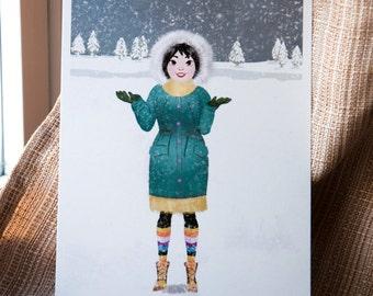 Winter Time Postcard