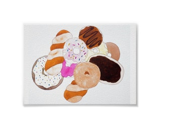 Donut Even Go There - Handmade Watercolor Print