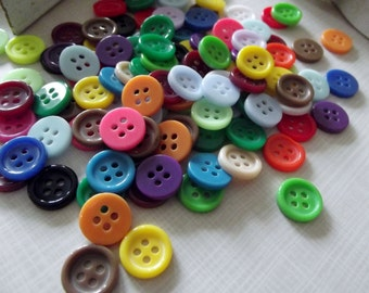 50 Different Coloured Sewing Buttons-11mm diameter