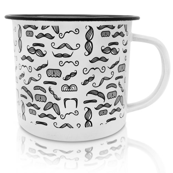 Enamel mug ideal as a shaving mug, camping mug, travel mug or tea/coffee cup