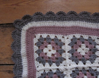 Patch granny square blanket