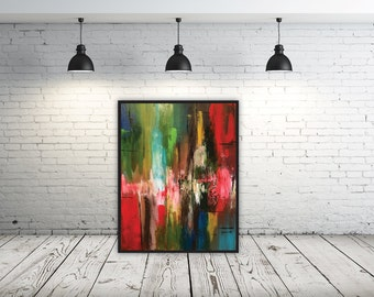 Racing Thoughts - Original Acrylic Abstract Painting