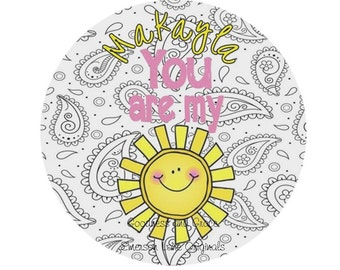 You Are My Sunshine Plate - Melamine - Dinnerware for Children