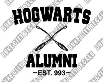Hogwarts Alumni Harry Potter Sticker Decal