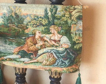 Lovers on a Lake Tapestry wall Hanging, Couple on a Lake Tapestry Art