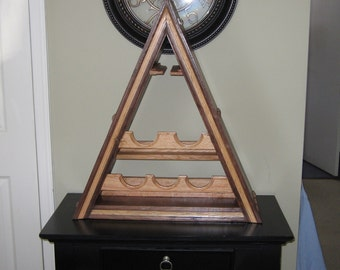 Triangular Shaped Wine Rack