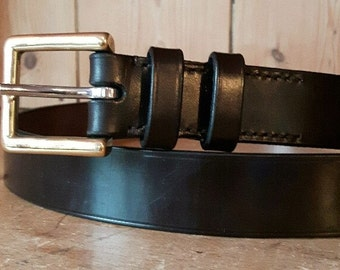 """1.25"""" Bridle leather belt,Morar Hand stitched Leather Belt with Solid Brass Buckle, Wide Leather belt, Brown leather belt, bridle leather"""
