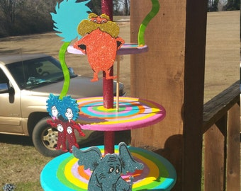 dr. seuss themed cupcake stand
