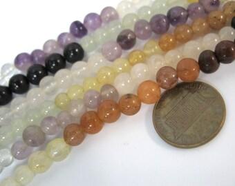 108 mala chakra gemstone beads 6 mm - AuraM001
