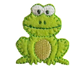 Especially Baby Frog Embroidered Iron On Applique