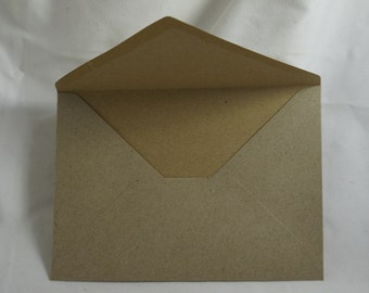 10x C6 Brown Recycled Envelopes