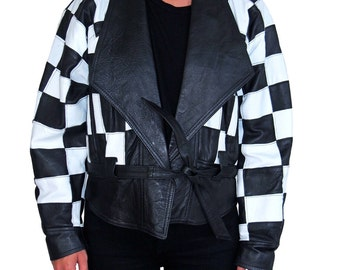 CHECKER BOARD INDIE Style Jacket