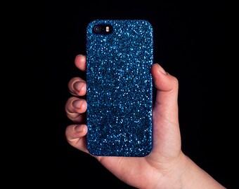 Glitter iPhone Case for iPhone 4/4S, 5/5S, SE, 6/6S & 6/6S Plus - Ocean Blue