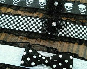Black Lace Adjustable Collars Simple Design