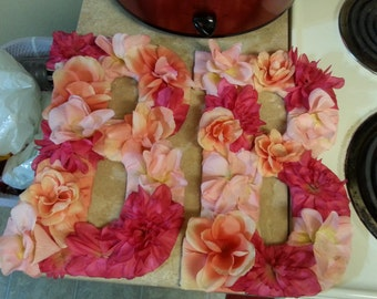 Flower accent letters