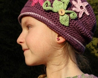 Crochet spring hat for girl/handmade hat