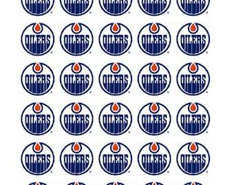 30 Edmonton Oilers Hockey Stickers