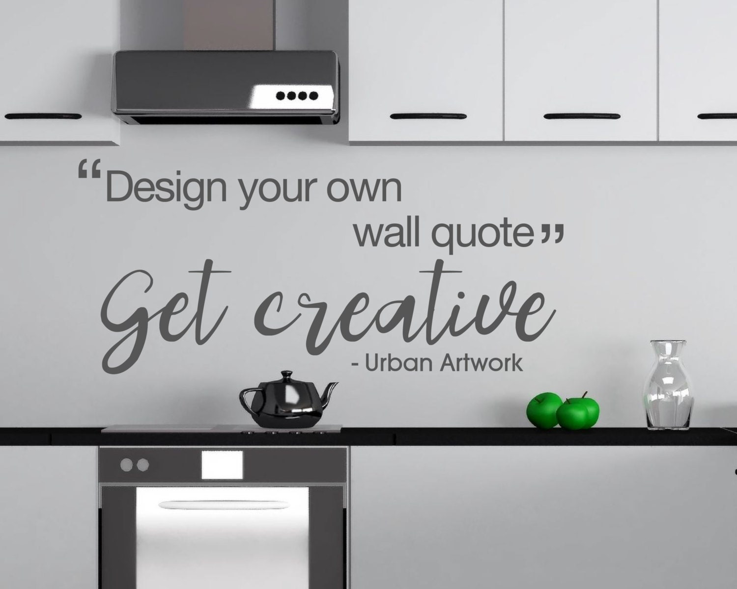 Wall Stencils Design Your Own : Design your own wall quote custom made by urbanartworkstore
