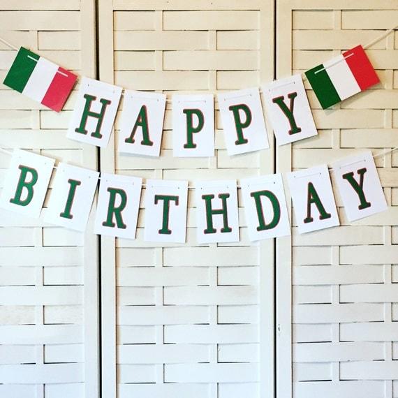 Customizable Italian Happy Birthday Banner That's Amore