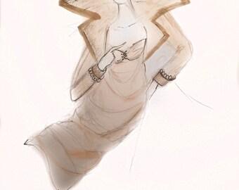 Queen Fashion Illustration Print