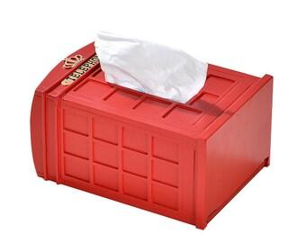 London Telephone Box Tissue Box Cover