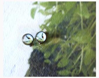 Cufflinks-Retro Style-glass cabochon Cufflinks-12 mm