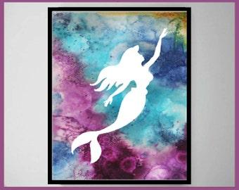 Mermaid , Mermaid poster, Mermaid Wall Art, Mermaid Art, Mermaid Print, Mermaid decoration, Mermaid decor