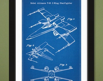 X wing starfighter etsy 12x18 star wars blueprint 1980 patent drawing x wing starfighter malvernweather Image collections