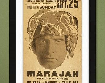 Marajah [Mystic] – US Library of Congress Archives (12x18 Heavyweight Art Print)