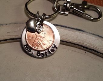 Lucky Penny Keychain Gift for Teacher